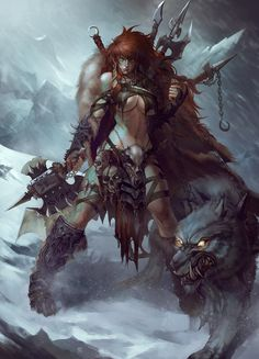 Fan of epic fantasy art! & HeavyMetal — Red Sonja from Diablo Fantasy Warrior, Fantasy Girl, Dark Fantasy, Fantasy Anime, Chica Fantasy, Warrior Girl, Fantasy Kunst, Fantasy Rpg, Fantasy Women