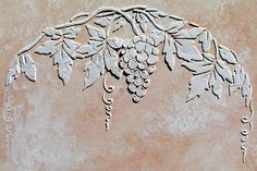 raised plaster grapes arch craft stencil