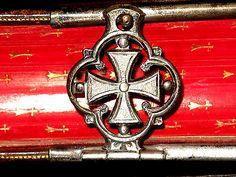 1856-CATHOLIC-Roman-MISSAL-French-FINE-BINDING-Bible-ILLUMINATED-Prayer-Book