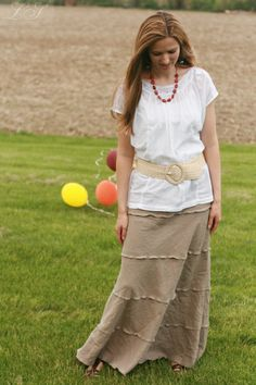 tiered summer skirt by Laura Singer, via Flickr