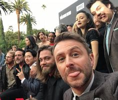 TWD cast and crew at the Talking Dead Premiere Event on Oct 23, 2016.