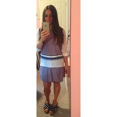 Gap coordinates tank and skirt With blouse layers summer style