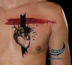 Tattoo by Milena Zmijewskay at Bloody Art Tattoo in Gdansk, Poland Rib Tattoos For Women, Back Tattoo Women, Trendy Tattoos, Black Tattoos, Real Heart Tattoos, Crazy Tattoos, Tattoo Trash, Tattoo Pain Chart, Herz Tattoo