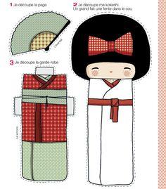 poupée Kokeshi en papier à télécharger - Marie Claire Idées