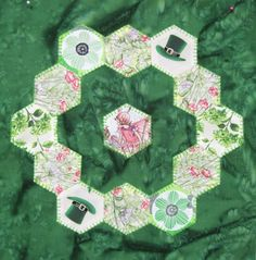 = free pattern = Fairy Ring quilt block by Laura Roberts for McCall's Quilting. Free patterns for St. Patrick's Day | Quilt Inspiration