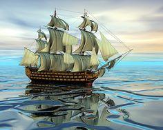 HMS Victory open sea