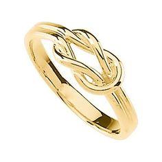 Amazon.com: 14K Yellow Gold Infinity Knot Ring: Jewelry
