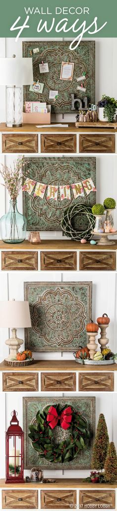 Wall decor 4 ways for your entryway!