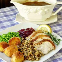Lemon Rosemary Brined Roast Turkey - a great recipe idea