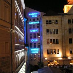 With 5 levels, the largest music club in central #Europe - Karlovy Lazne in #Prague, Czech Republic