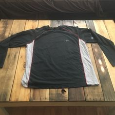 Nike long sleeve t shirt! Black with gray and red! Super hefty so it will keep you warm. Size is XL. Nike Tops Tees - Long Sleeve
