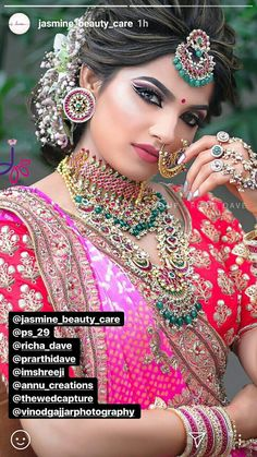 bridal jewelry for the radiant bride Indian Bridal Photos, Bridal Hairstyle Indian Wedding, Bridal Hair Buns, Indian Bridal Hairstyles, Indian Bridal Fashion, Indian Bridal Makeup, Indian Wedding Jewelry, Bridal Jewelry, Bridal Looks