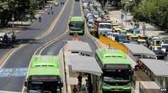 Delhi BRT corridor is causing debate revealing class divide -- BBC News India, New Urbanism, Rapid Transit, News India, Public Transport, Internet Marketing, Affiliate Marketing, The Row, Transportation, Asia