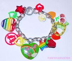 Deery Lou Kitsch Rainbow Charm Bracelet in my etsy shop