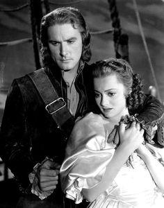 Errol Flynn and Olivia de Havilland in Captain Blood by Michael Curtiz 1935
