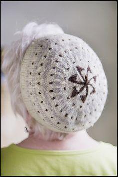 Elizabeth Zimmerman knitted hat - interesting crown shaping