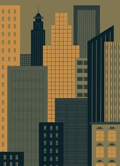 illustrator Ben Newman (something like this only higher contrast so it looks good from stage)
