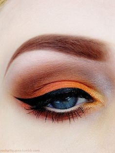 Orange eye makeup trends to try