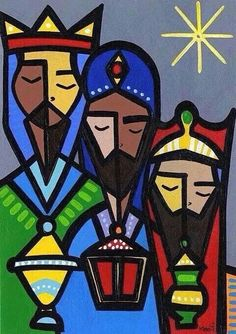 Happy three kings do not forget to attend mass! Happy Three Kings Day, We Three Kings, Christmas Nativity, Christmas Crafts, Christmas Christmas, Christmas Decorations, Three Wise Men, King Art, Birth Of Jesus