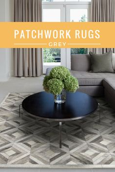 Cowhide patchwork rugs are elegant and spruce up the living space the rug is in. Read more about 8 different Grey/Gray Rug styles