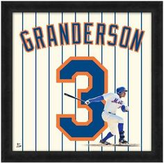 """Curtis Granderson New York Mets - Officially Licensed 20"""" x 20"""" Uniframe"""