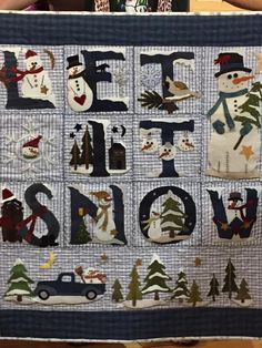Let it snow, done by Jill West