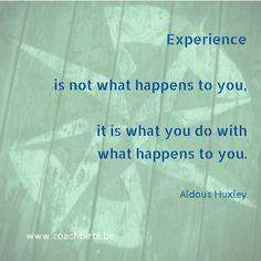 Over ervaring en wat je daaruit kan leren.
