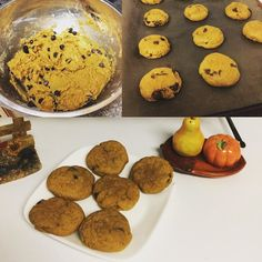 Fall colours cooler weather and #pumpkinchocolatechipcookies. These are the what autumn days are about. #gastropost #nomnomnom #youknowyouwantsome