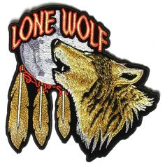 Lone Wolf Howling at the Moon 6 inch Patch