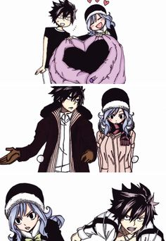 Gruvia- Fairy Tail- Gray and Juvia Fairy Tail Juvia, Fairy Tail Gray, Fairy Tail Love, Fairy Tail Manga, Fairy Tail Ships, Anime Fairy, Fairy Tail Family, Fairy Tail Couples, Juvia And Gray