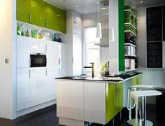Cocina verde Ikea