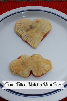 Fruit Filled Nutella Mini Pies - Perfect for Valentine's Day - Heart Shaped