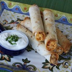 Baked Creamy Chicken Taquitos. Looks delish!