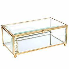 Pindall Glass Keepsake Box Glass Jewelry Box Keepsake