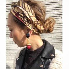 バンダナ・スカーフを使って無造作っぽく。ゆるいヘアアレンジが楽しい♪ | キナリノ