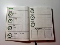 weekly log, green theme Green Theme, Bullet Journal, Memories, Lettering, Thursday, Memoirs, Souvenirs, Drawing Letters, Remember This