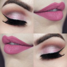 Gorgeous Makeup: Tips and Tricks With Eye Makeup and Eyeshadow – Makeup Design Ideas Eye Makeup, Pink Makeup, Hair Makeup, Night Makeup, Makeup Lipstick, Gorgeous Makeup, Pretty Makeup, Romantic Makeup, Makeup Goals