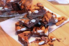 The Kitchen Whisperer Toasted Almond Chocolate Caramel Bark with Sea Salt