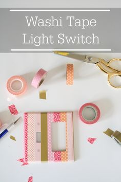 5 minute DIY washi tape light switch cover