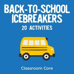 Back-to-School Icebreakers: The twenty icebreaker activities in this collection provide great ideas for learning about your new students and enabling interactive and engaging introductions. We have assembled our all-time favorites, some which have been passed on through years of teaching...