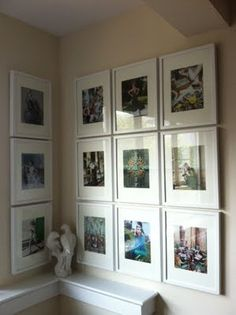 Photo wall with frames from Ikea.