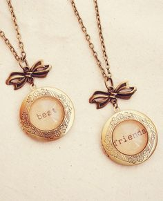 Set of Two Matching Best Friends Lockets