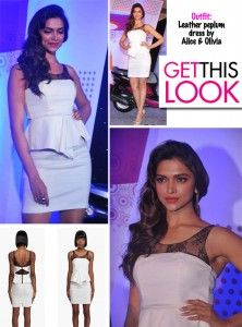 Earlier today, the svelte and sexy Deepika Padukone was on hand (as the Brand Ambassador) to unveil the brand new Yamaha Ray Concept scooters which will soon be launched in the country. She wore a white leather dress with a peplum and lace yoke by Alice and Olivia. So the next time you see a [...]