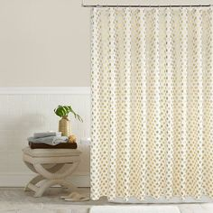 Colordrift Pixie Metallic Dots Shower Curtain