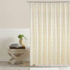 Colordrift Pixie Metallic Dots Shower Curtain