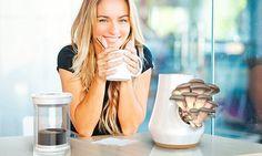 Cafeteira inovadora usa borra do café para cultivar cogumelos