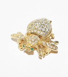 This is a stunning example of Joan River's highly collectible jewelry. It is a gorgeous #signed #watch pin in the shape of a bee. It is covered with beautiful rhinestones and... #jewelry