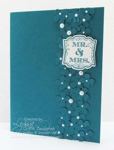 Zillion-flower wedding cards (actual count) and BLOG CANDY!