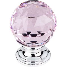 Share with your friends and get $10 off your order! Top Knobs - Pink Crystal Knob w Polished Chrome Base (TKTK117PC)