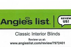Review us on Angie's List and see what all the buzz is about! Hunter Douglas Blinds, Angie's List, Classic Interior, How To Make